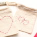 DIY Saint Valentin : Broderie Coeur