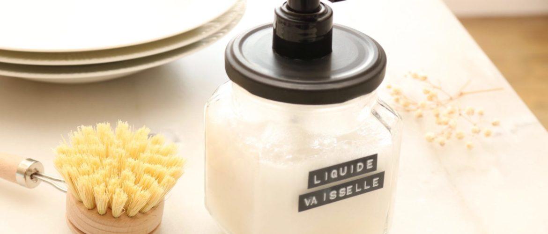 Recette de Liquide vaisselle maison (& Idée DIY de Flacon en verre stylé)