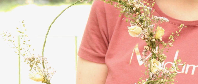DIY Couronne de fleurs séchées
